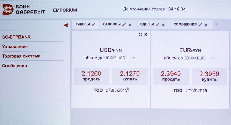 Валютная биржа беларуси торги онлайн банки форекс украина